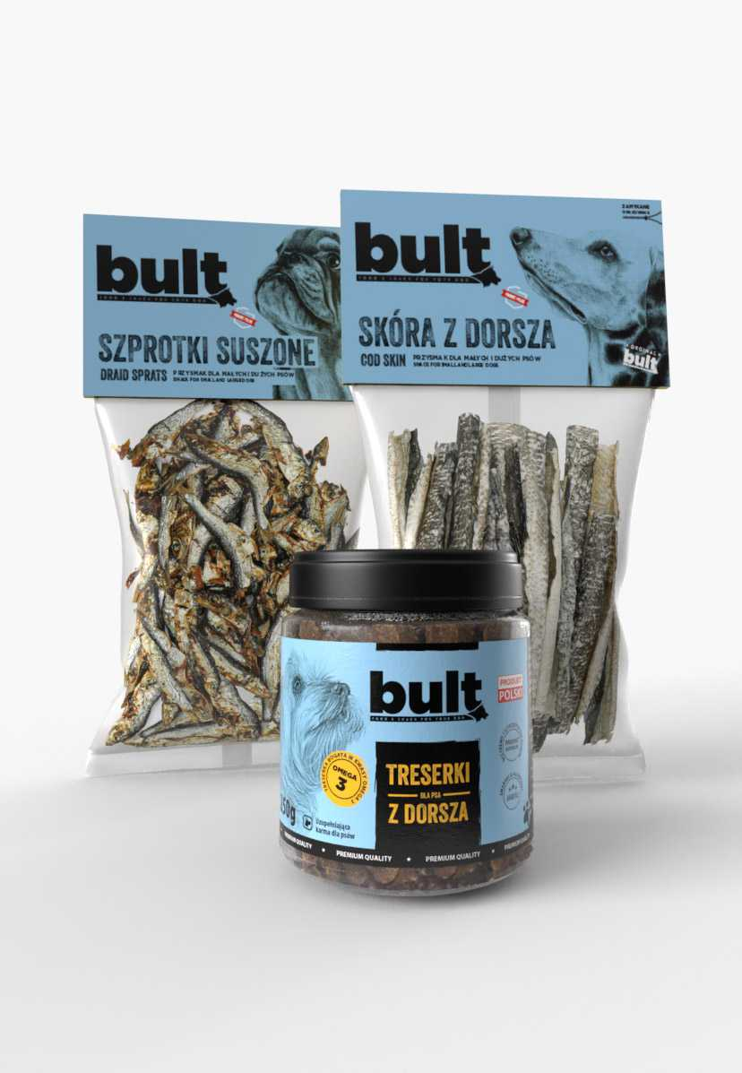 Rybny zestaw przysnaków dla psa od BULTa